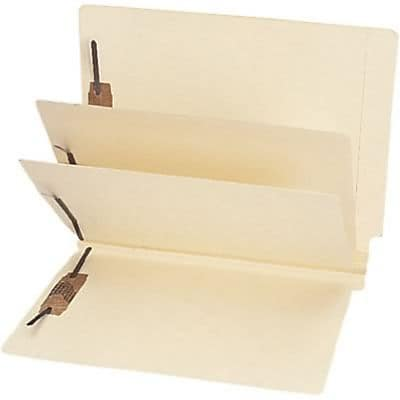 Medical Arts Press® End-Tab Manila Classification Folders, 2-Dividers, 75/Box