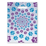 Jumbo Scatter-Print Supply Bags, Paw Print Spiral