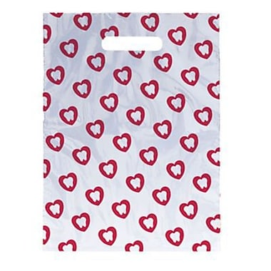 Small Scatter-Print Supply Bags, Tooth in Heart