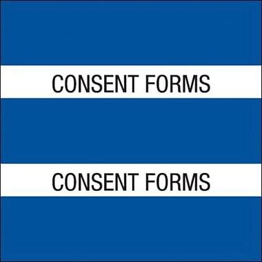 : Medical Arts Press® Large Chart Divider Tabs; Consent Forms, Dk. Blue