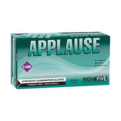 Applause Synthetic Powder-Free Exam Gloves, Large