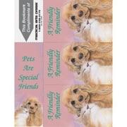 Graphic Image 3-Up Laser Postcards, Spaniel, Cat