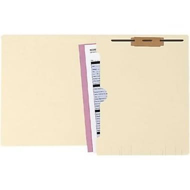 Medical Arts Press® Manila Full-Pocket End-Tab Folders, 1 Fastener, 50/Box