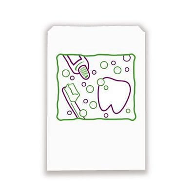 Dental Non-Personalized Paper Bags, Scatter Print Bubbles