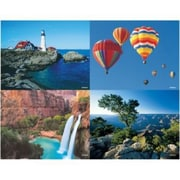 Scenic Assorted Laser Postcards, Hot Air Balloons