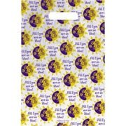 Large Scatter-Print Supply Bags, Smiling Sun