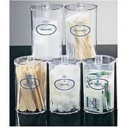 Mabis® Stor-A-Lot™ Jars; Labeled Clear Plastic