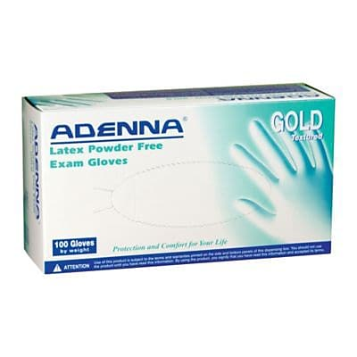 Adenna® Gold Latex Powder-Free Exam Gloves, X-Large, 100/Box