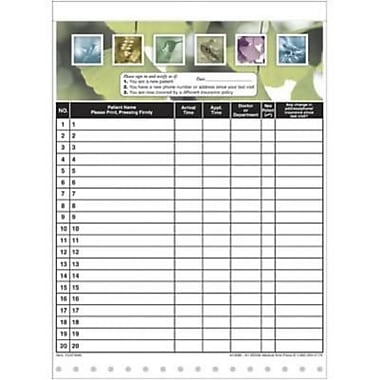 Medical Arts Press Designer Privacy Sign-In Sheets, Botanical Garden