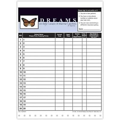 Medical Arts Press Designer Privacy Sign-In Sheets, Butterfly with Quote
