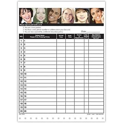 Medical Arts Press Designer Privacy Sign-In Sheets, Demographic