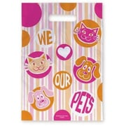 Large Scatter-Print Supply Bags, Pink and Orange Pets