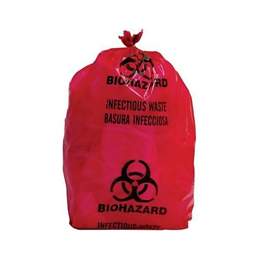Biomedical Waste Disposal Systems Infectious Bags 5 Gallon 20 Roll