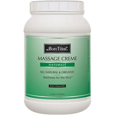 Bon Vital'® Naturale Unscented Massage Cremes, 1 Gallon