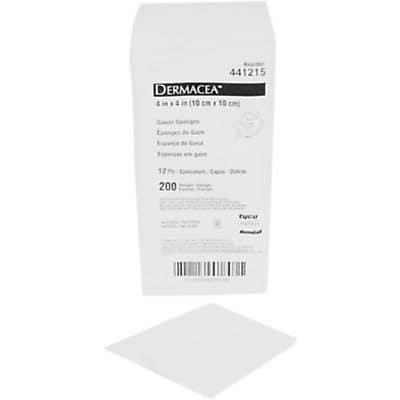 Dermacea™ Gauze Sponges, Non Sterile , 4x4