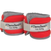 Thera-Band® Comfort Fit Ankle & Wrist Weight Sets, 2 lb pair (1 lb each), Red