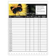 Medical Arts Press Designer Privacy Sign-In Sheets, Butterfly/Flower