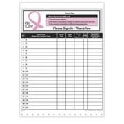 Medical Arts Press Designer Privacy Sign-In Sheets, Pink Ribbon