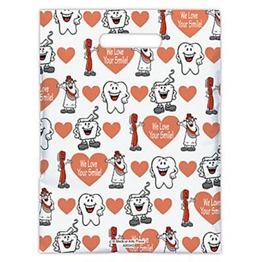 Small Scatter-Print Supply Bags, Smile Team, We Love Your Smile