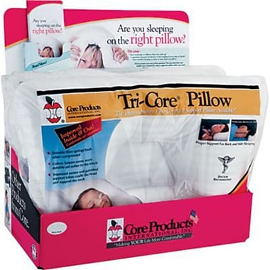 Tri-Core Orthopedic Pillow Display Pack, 24 x 16 inch, Firm