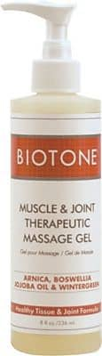Biotone Muscle and Joint Relief Therapeutic Massage Gel, 8oz. Pump
