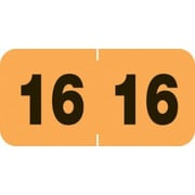 Medical Arts Press® Compatible End-Tab Year Labels; 2016