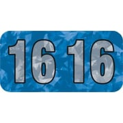 Medical Arts Press® Holographic End-Tab Year Labels, 2016, Blue