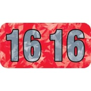 Medical Arts Press® Holographic End-Tab Year Labels, 2016, Red