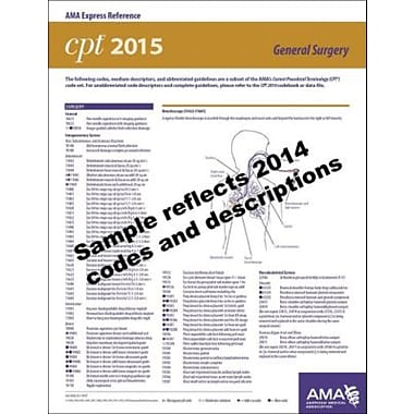 AMA 2015 Express Reference Coding Cards for CPT, General Surgery