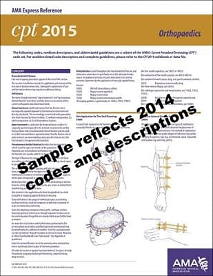 AMA 2015 Express Reference Coding Cards for CPT, Orthopedics