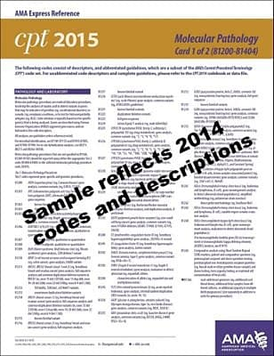 AMA 2015 Express Reference Coding Cards for CPT, Molecular Pathology
