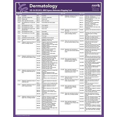 AMA 2015 Express Reference Coding Cards for ICD-10, Dermatology