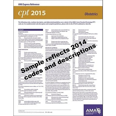 AMA 2015 Express Reference Coding Cards for CPT, Obstetrics