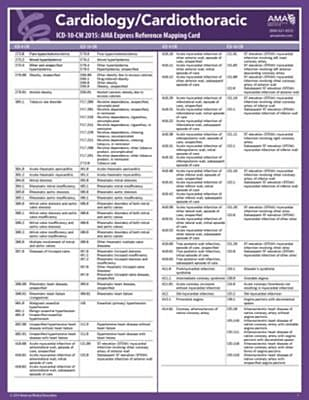 AMA 2015 Express Reference Coding Cards for ICD-10, Cardiology