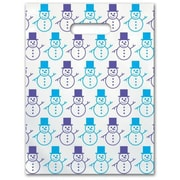 Small Scatter-Print Supply Bags, Snowman
