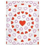 Large Scatter-Print Supply Bags, Hearts