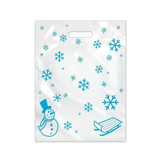 Large Scatter-Print Supply Bags, Snowflakes