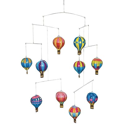 Schylling Tin Hot Air Balloon Mobile, 10/Pack