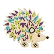 Plaid Handmade Charlotte Stitchable Hedgehog Craft Kit, 12/Pack