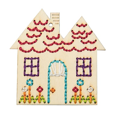Plaid Handmade Charlotte Stitchable House Craft Kit, 12/Pack
