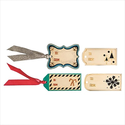 Plaid Laser Cut Wood Gift Tags, 24/Pack