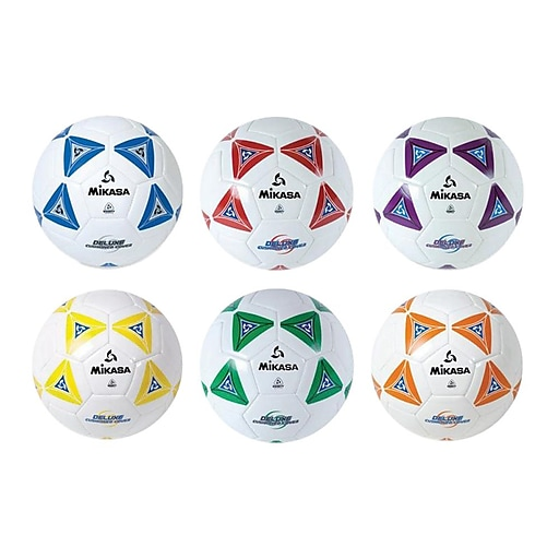 Mikasa Sports Soft Soccer Ball, Size 5, 6/Set