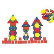 EDX Education Solid Plastic Pattern Blocks, 250/Set
