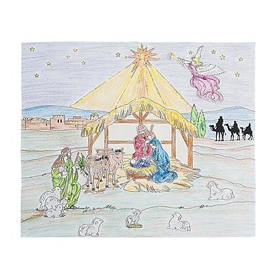 S&S Worldwide Nativity Fun Scene Craft Kit, 24/Pack