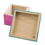 "Darice 2.5""H x 4""W Wood Box Assortment with Magnetic Lids, 12/Pack"