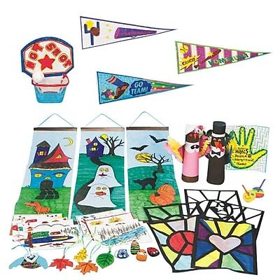 S&S Worldwide Fall After School Craft Program Kit, 596/Pack