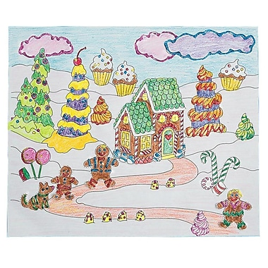 S&S Worldwide Gingerbread Fun Scene Craft Kit, 24/Pack
