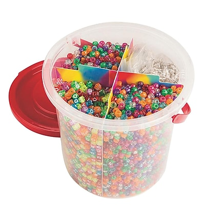 S&S Worldwide Sparkle Pony Bead Bucket Easy Pack