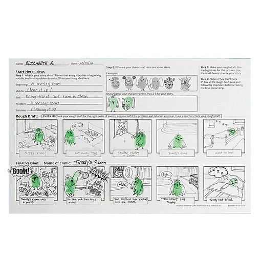 S&S Worldwide Thumbprint Comic Strip, 24/Pack