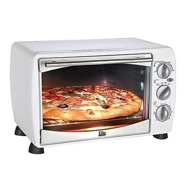 Maxi-Matic Elite Platinum 6 Slice/0.64Cu. Ft. Toaster Oven Broiler, White